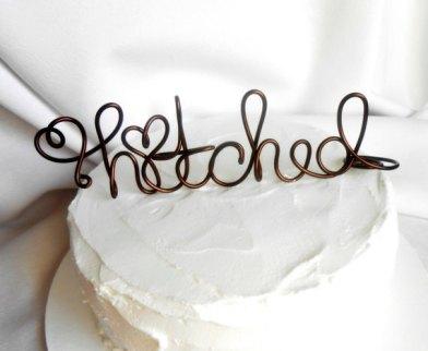 Cake topper, by HomesAndWeddings on etsy.com