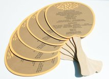 Ceremony order of service fans, by TheFindSac on etsy.com