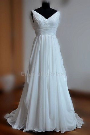 Chiffon dress - US$119.99, by ChantillyBridal on etsy.com