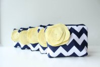 Cosmetic bags - good gift idea for bridesmaids, by allisajacobs on etsy.com