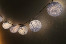 Cotton ball lights, by CHAICHUEN on etsy.com