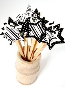 Cupcake toppers, by peppermintparty on etsy.com