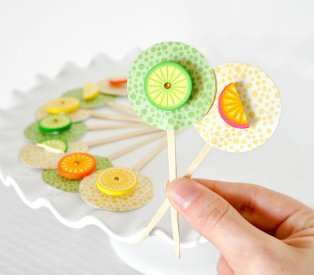Cupcake toppers, by wishdaisy on etsy.com