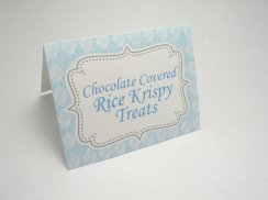 Customised food cards or place cards, by JustScrapsNThings on etsy.com