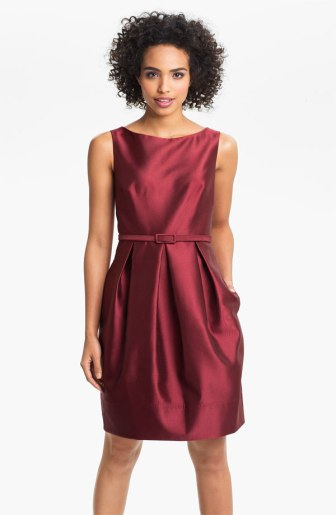 Eliza J Belted Faille Tulip Dress, from nordstrom.com