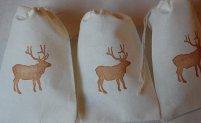 Elk wedding favour bags, by JennifersCookies on etsy.com