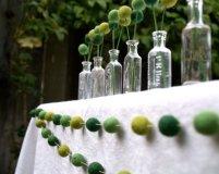 Felted ball garland, by Fairyfolk on etsy.com