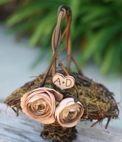 Flower girl basket, by braggingbags on etsy.com