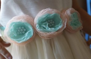 Flower girl dress sash, by ArysBoutique on etsy.com