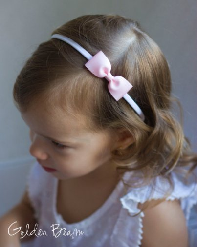 Flower girl headband, by GoldenBeam on etsy.com