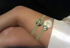 Garter, by BellaRomantica on etsy.com