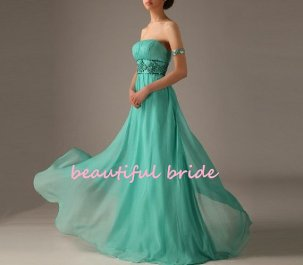 Green wedding dress, by BeautifulBride1016 on etsy.com