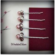 Hair clips, by WeddinGlam on etsy.com