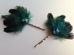 Hair pins, by BlissfulPetals on etsy.com