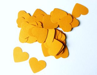 Heart confetti, by HopeTillUrHeartHurts on etsy.com