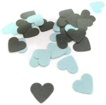 Heart confetti, by MoosesCreations on etsy.com