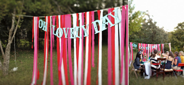 Idea for a more casual, relaxed outdoor wedding