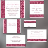 Invitation set, by ALookOfLove on etsy.com