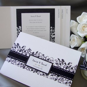 Invitation set, by Design4Eternity on etsy.com
