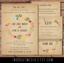 Invitation set, by inoroutmedia on etsy.com