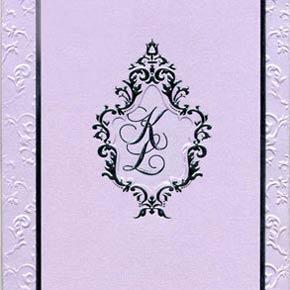 Khloe Kardashian and Lamar Odom had monogram invitations to their wedding
