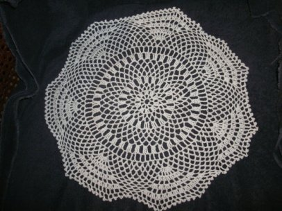 Lace doilies, by plusangels on etsy.com