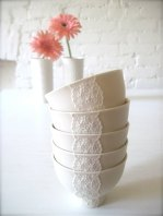 Lace-style bowls (lovely for dessert!), by Hideminy on etsy.com