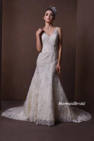 Lace wedding dress - US$369, by MermaidBridal on etsy.com