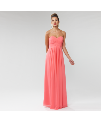 Langhem Mona Lisa coral maxi dress, from swishclothing.com.au