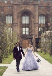 Lavender wedding dress, by WeddingDressFantasy on etsy.com