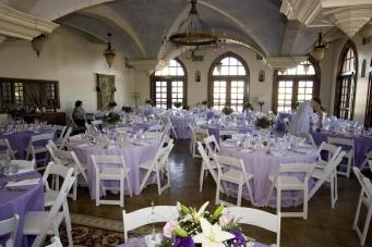 Lavender wedding reception
