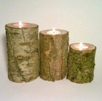 Log tealight candle-holders, by DeerwoodCreekGifts on etsy.com