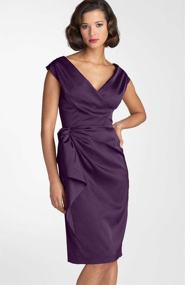 Maggy london stretch satin sheath dress from nordstrom for Nordstrom women s wedding guest dresses