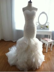 Mermaid wedding dress - US$450, by wonderxue on etsy.com
