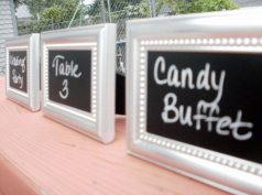 Mini chalkboards, by CharlieChalkDesigns on etsy.com