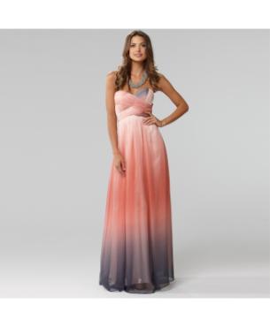 Langhem Mona Lisa coral ombre dress, from swishclothing.com.au