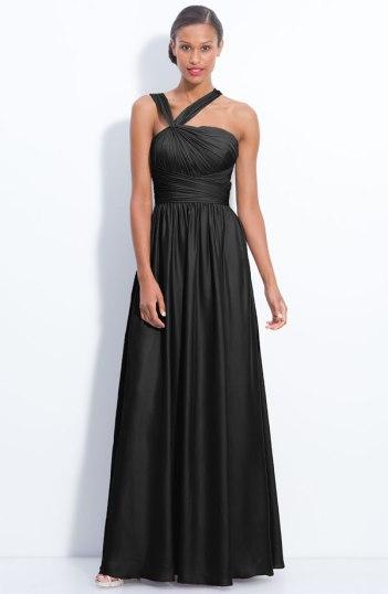 Monique Lhuillier Bridesmaids Twist Shoulder Chiffon Gown, from nordstrom.com