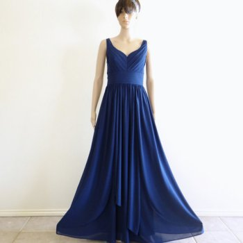 Navy blue gown, by lynamobley2012 on etsy.com