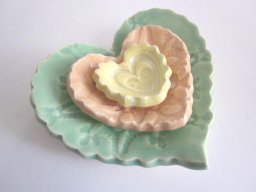 Nested heart dish, by DarriellesClayArt on etsy.com