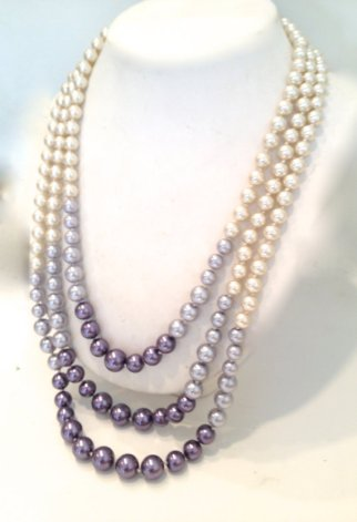 Ombre lavender pearl necklace, by WOWTHATSBEAUTIFUL on etsy.com