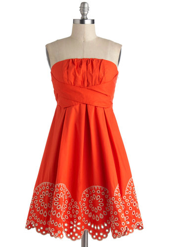 Orange Rush dress, from modcloth.com