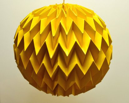 Origami art balls, by FiberStore on etsy.com