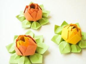Origami lotus flowers, by fishandlotus on etsy.com