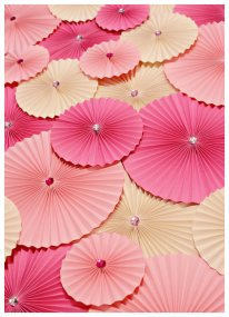 Paper accordian flowers, by Azoewa on etsy.com