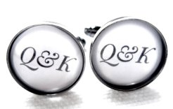 Personalised cufflinks, by JonTurner on etsy.com