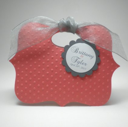 Personalised wedding favour box, by fairmontfavours on etsy.com