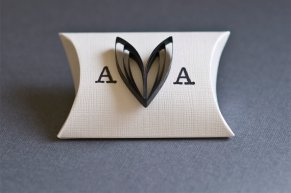 Personalised wedding favour box, by Pierrepont on etsy.com