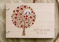 Personalised wooden guestbook, by TotallySalinda on etsy.com