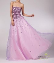 Purple sparkly wedding dress, by pandaandshamrock on etsy.com