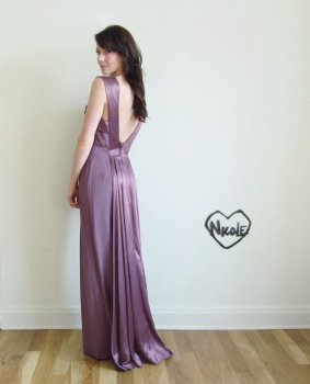 Purple wedding dress, by DOTTO on etsy.com